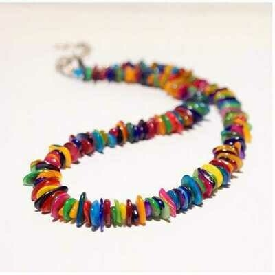 Handmade Colorful Mother of Pearl Necklace