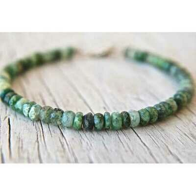 Handmade Raw Emerald Beads Stacking Bracelet