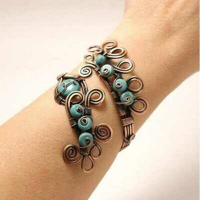 Handmade Wire Wrapped Turquoise Bracelet