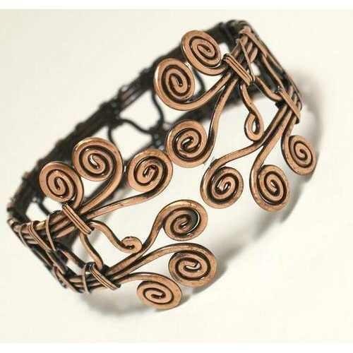 Handmade Wire Wrapped Copper bracelet