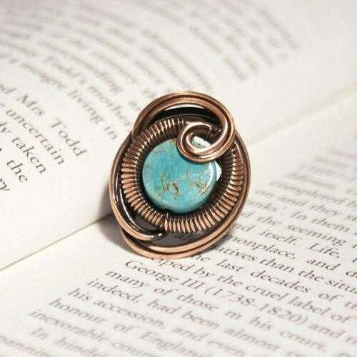 Handmade Wire Wrap Turquoise Ring