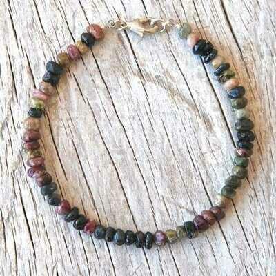 Handmade Tourmaline Beads Stacking Bracelet