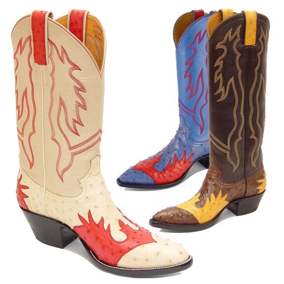 Tomahawk Ostrich (18 Colors) Cowboy Boots