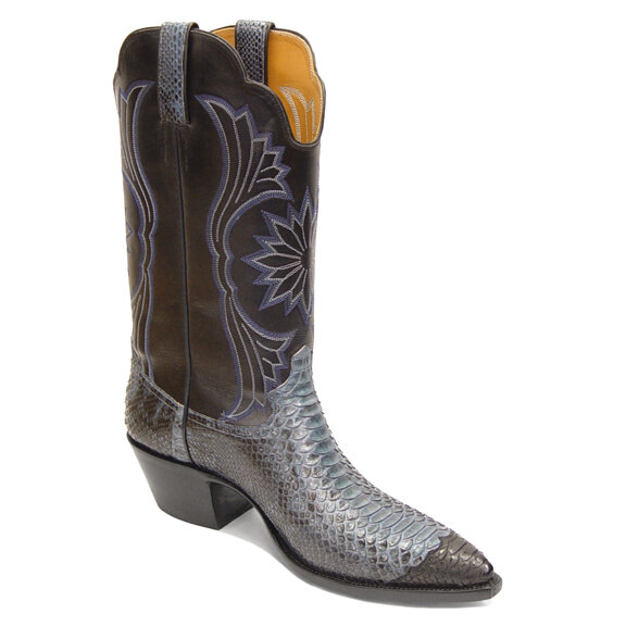 Python Wing Tip Boots