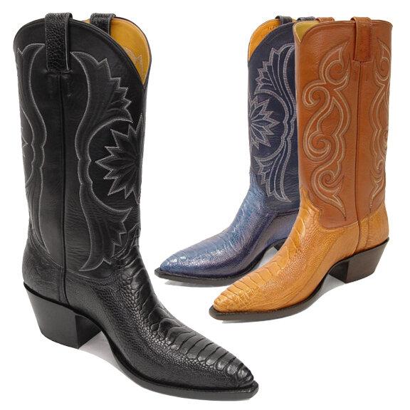 Ostrich Leg Cowboy Boots