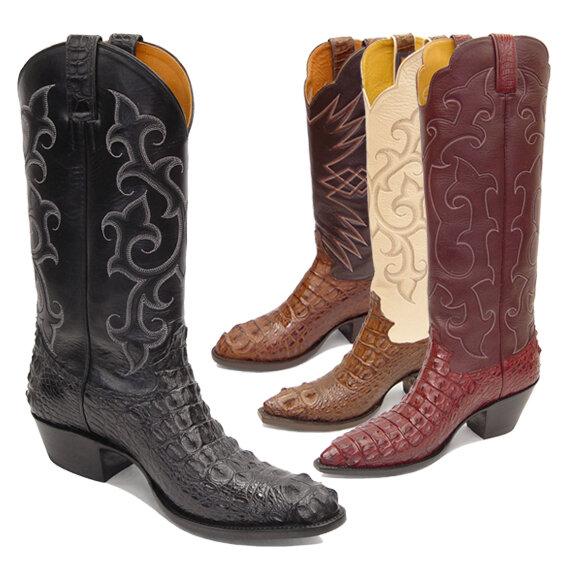 Nile Crocodile Hornback (5 Colors) Cowboy Boots