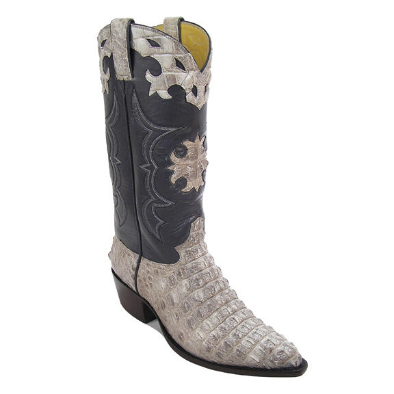 Natural Hornback Nile Crocodile Cowboy Boots