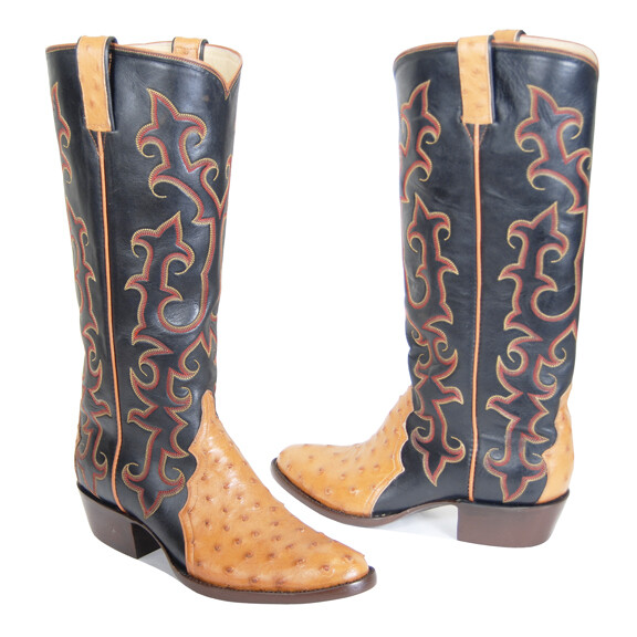 Full Quill Ostrich Triad Cowboy Boots (18 Colors)
