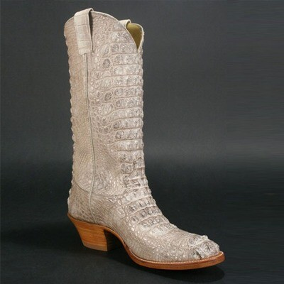 Top & Bottom Natural Nile Crocodile Cowboy Boots