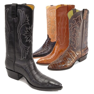 Smooth Nile Crocodile (15 Colors) Cowboy Boots