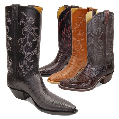 Smooth Caiman Crocodile (12 Colors) Cowboy Boots