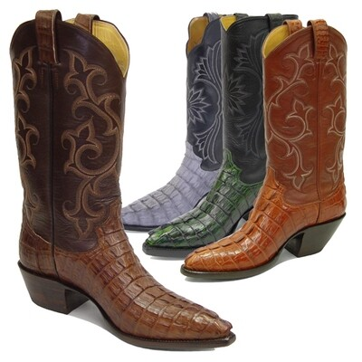 Caiman Crocodile Tail (Small Horn - 11 Colors)  Cowboy Boots