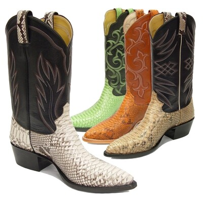 Python Belly (10 Colors) Cowboy Boots