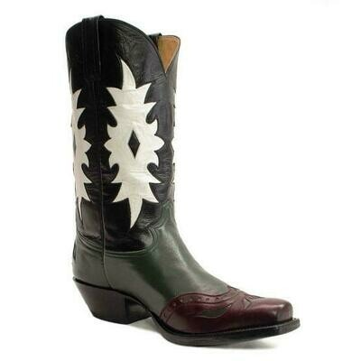 Vintage Leaf Cowboy Boots