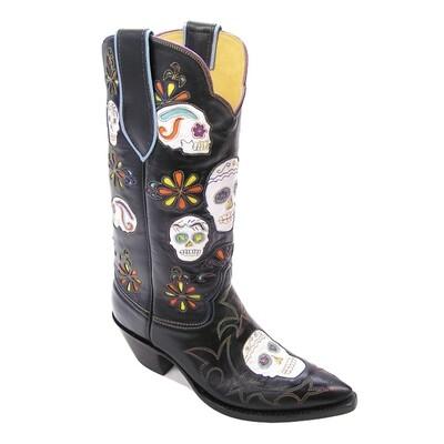 Dia De Los Muertos Cowboy Boots