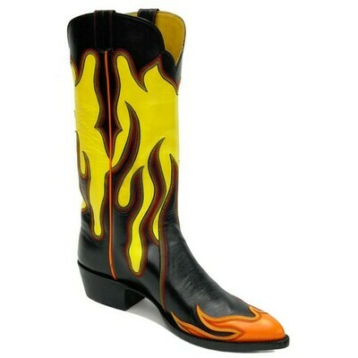 Inferno Flame Cowboy Boots