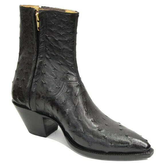 Full Quill Ostrich Ankle Boots (18 COLORS)