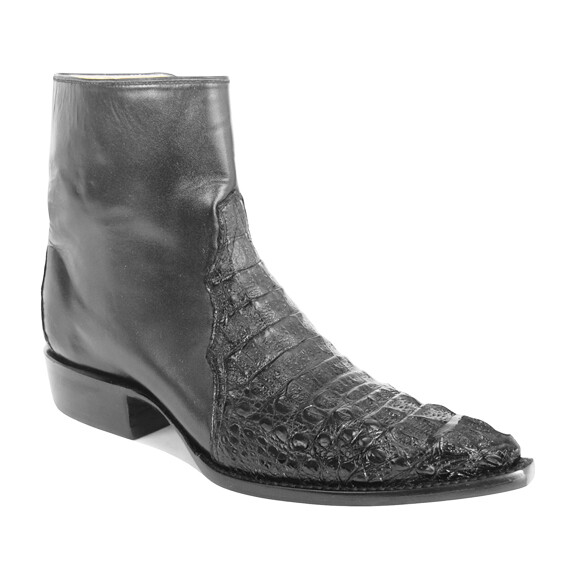 Hornback Caiman Crocodile Ankle Boots (11 colors)