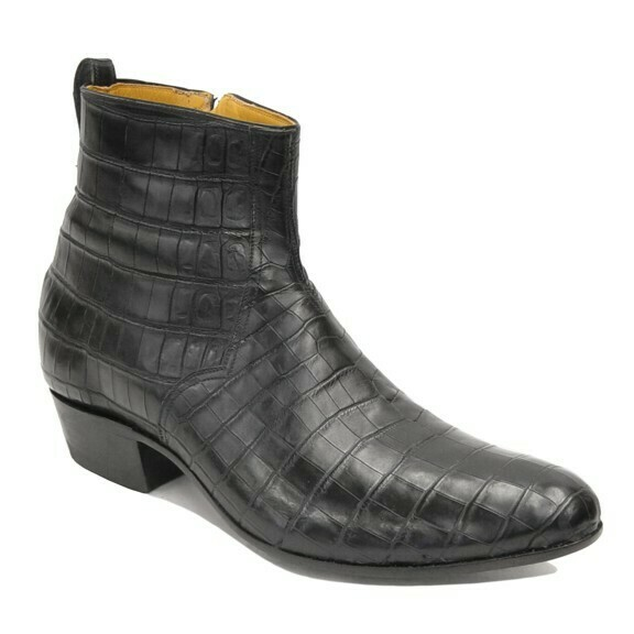Smooth Nile Crocodile (15 Colors) Ankle Boots