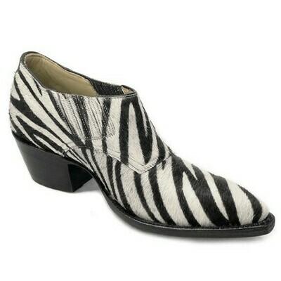 Zebra Hair-On Shoe Boots
