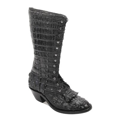 Nile Crocodile Lace-Up Packer Boots (5 colors)