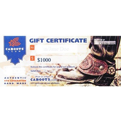 $1,000 Gift Certificate - Save $100