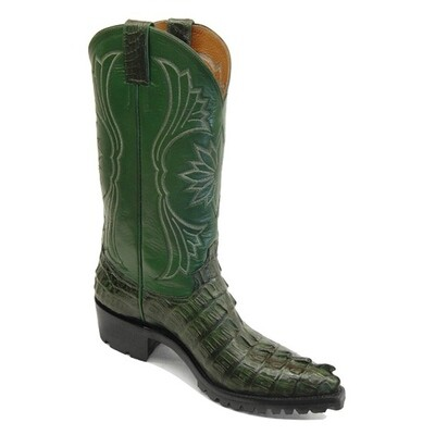 Caiman Crocodile Tail (Small Horn - 11 Colors)  Motorcycle Boots