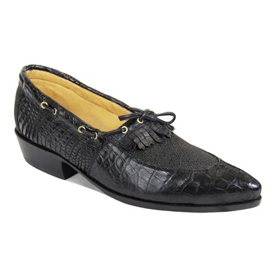 Roux Smooth Nile Crocodile Loafers