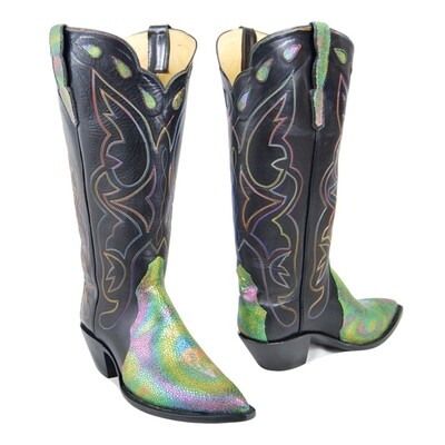 Iridescent Stingray Cowboy Boots