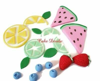 Fondant Fruit Cake Toppers, Tutti Fruiti Cake