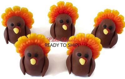 Fondant Thanksgiving Turkey Cake Topper
