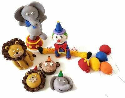 Fondant Circus Cake Toppers