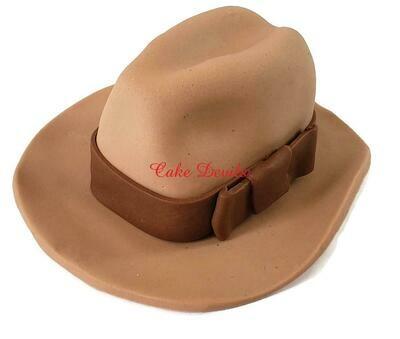 Fedora Hat Cake Topper