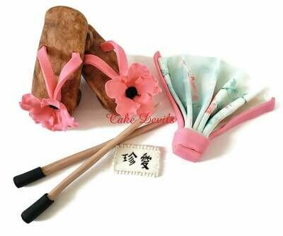 Fondant Asian Wedding Cake Decorations