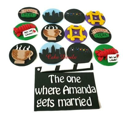 Friends TV show Fondant Cupcake Toppers