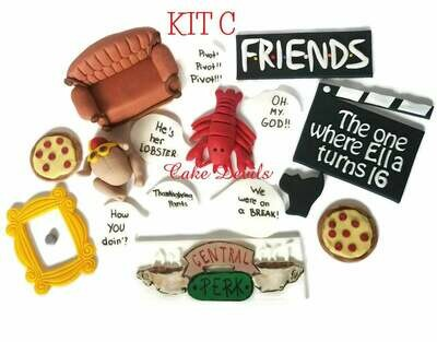 Friends Central Perk sign, Couch, lobster, turkey, clapboard, frame