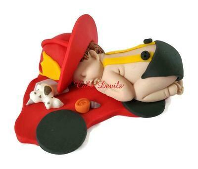 Firefighter Baby Shower Cake Topper