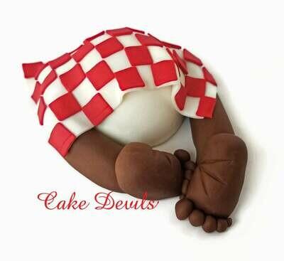 Picnic Blanket Baby Butt Cake Topper