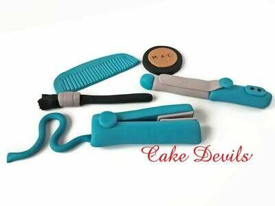 Hairdresser Cake Decorations, Makeup Cake, Beauty Salon Fondant Cake Toppers