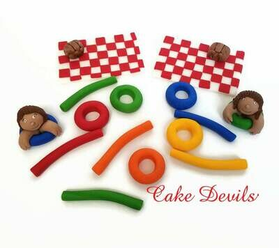 Picnic at the Pool or Lake Fondant Cake Toppers