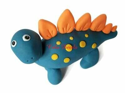 Fondant Stegosaurus Dinosaur Cake Topper Standing up with Spikes