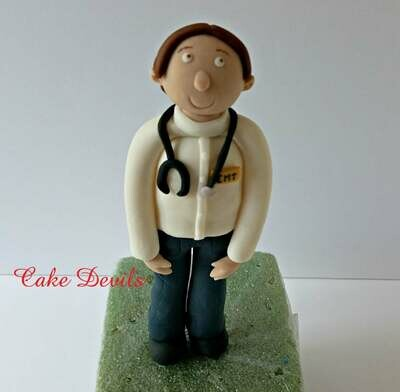 Doctor, ambulance, medical Cake Topper Kit, Fondant, Handmade Edible, Surgeon Cake Decorations, Hospital Party, Medical Celebration