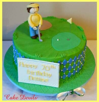 Fondant Golf Cake Topper Kit