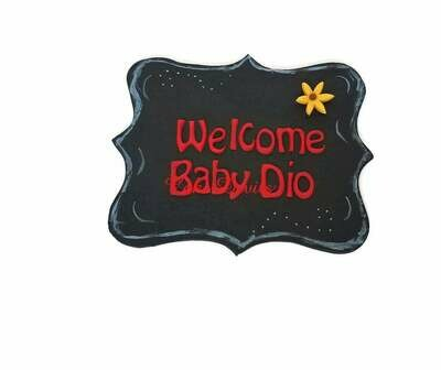 Personalized Fondant Plaque / Banner for Cake, Sign for cake, Happy Birthday banner cake deoration, personalized plaque