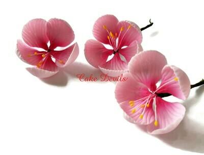 Blossom Cake Topper Flowers, Gumpaste Cherry Blossom Flowers, Fondant Wedding Flowers
