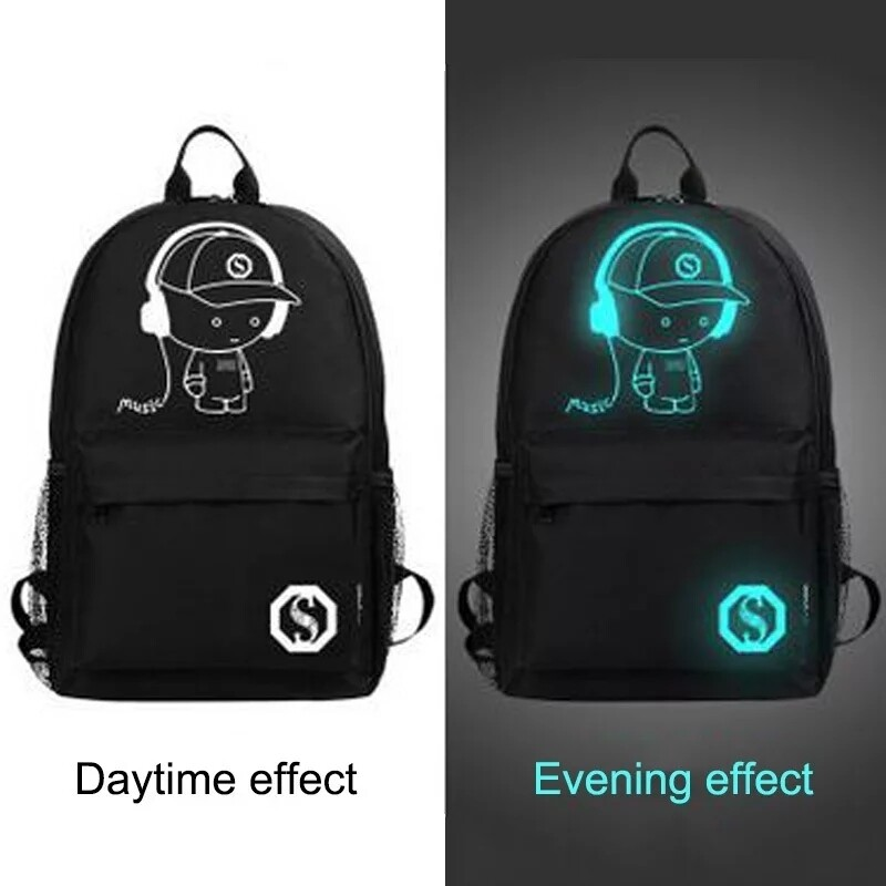 Fashion backpack great for students with USB port
