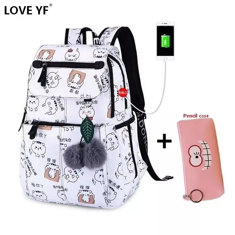 Girl anime backpack
