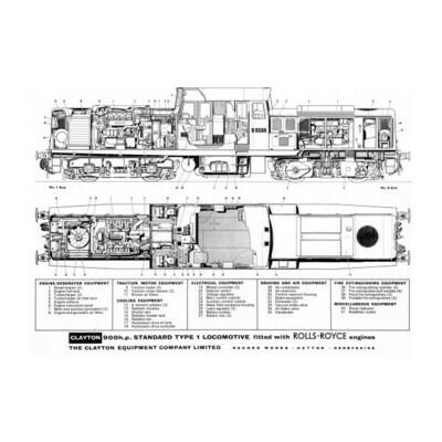 BoBo Diesel Electric BR Drawing Pack
