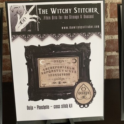 Ouija & Planchette Cross Stitch Kit