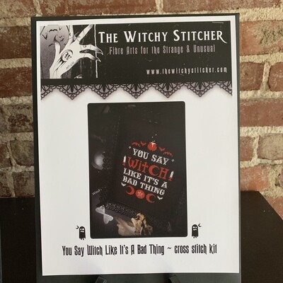 You Say Witch Cross Stitch Kit